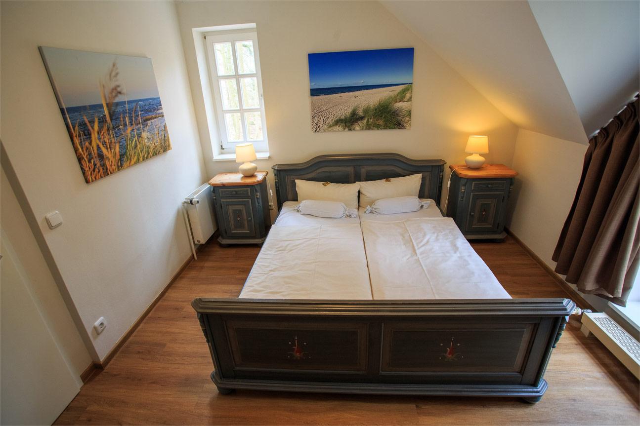 Schlafzimmer - Hotel Schlösschen Zingst